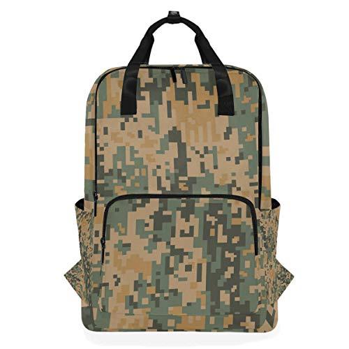 MONTOJ Reiserucksack Camouflage Schulrucksack