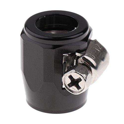 MagiDeal Voiture Carburant Huile Tuyau D'eau Tuyau Finisseur Pince Clip En Aluminium - Noir