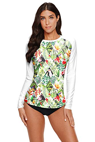 BesserBay Damen UV Tshirt Rash Guard Schwimmshirt UV Shirt Kurzarm Lycra Shirt Badeshirt T-Shirt UV-Schutz 50+