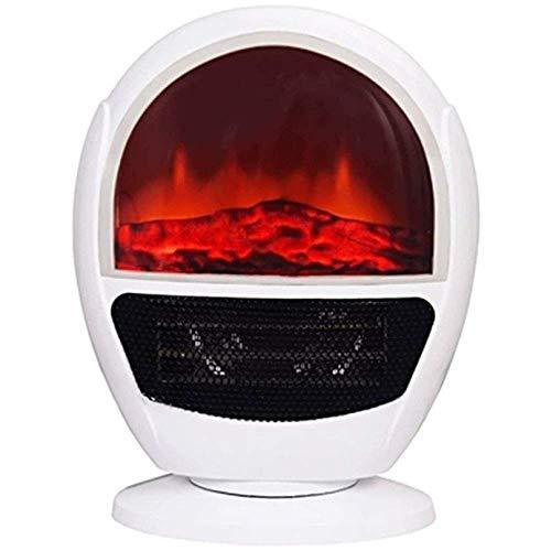Yxxc Calentador, Fuego eléctrico Estufa eléctrica eléctrica Retro Estufa de leña de 1,5 kW Calefacción Estufa W Fuego con Efecto de Llama Chimenea Independiente Estufa de leña Luz LED D