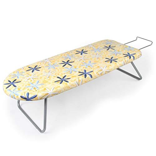 Tabla de planchar Tablero que plancha plegable de la malla del hierro del hogar, pequeño estante que plancha de escritorio, color verde de los 80 * 32CM mesa de planchar portátil ( Color : Yellow )
