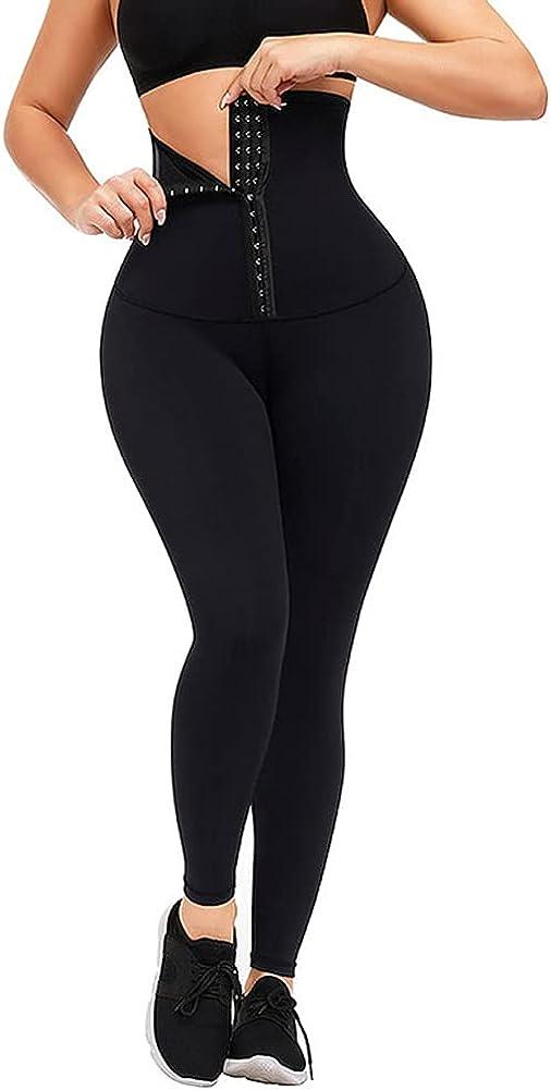 Women High Waist Tummy Control Stretchy Yoga Pants,Slimming Body Shaping Sport Leggings Fitness Pants