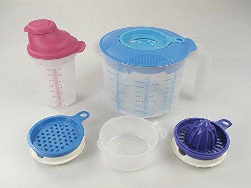 TUPPERWARE Backen Rühr-Mix 2,0 L Candy Messbecher D216 + Shaky 350 ml + Küchenperle P 20850