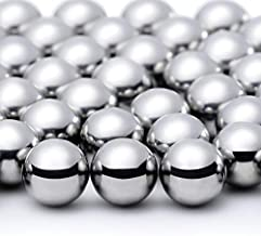100 Pieces Nail Polish Mixing Agitator Balls Stainless Steel Mixing Balls Rust-proof Paint Mixing Balls Metal Mixing Balls for Nail Polish Model Paints, 6.35 mm