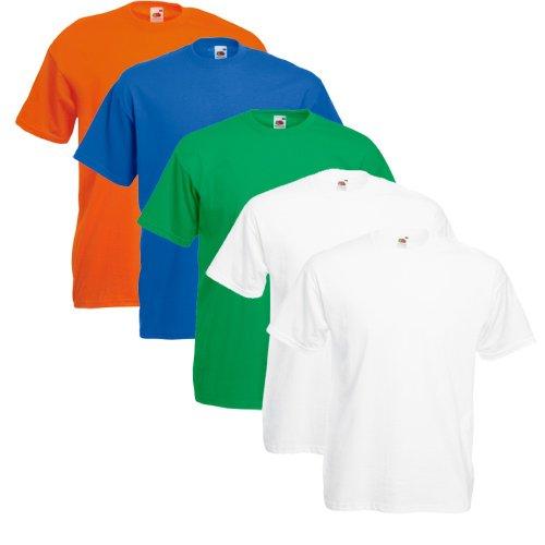 Fruit of the Loom 5X 61-036-0 - Camiseta, Hombre, Colour Set VII, S