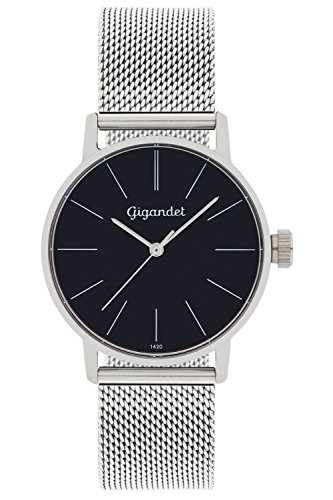 Gigandet Damen Analog Quarz Uhr mit Edelstahl Armband G43-006