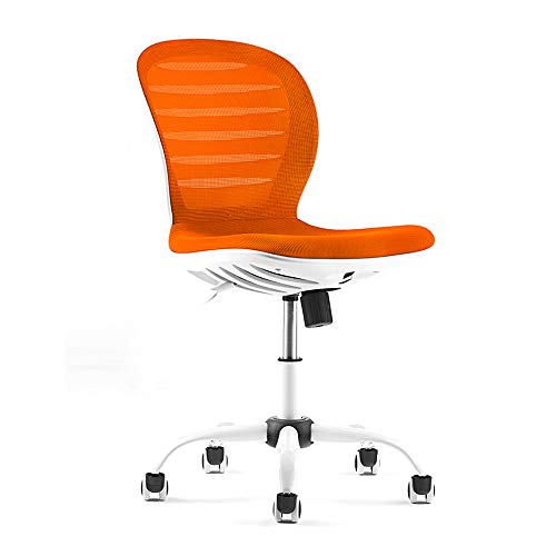 SHPEHP,Computer Chair, Home Back Lift Swivel Chair, Leisure Chair, Adjustable 360° Rotation, Office Staff Comfortable Chair-Orange