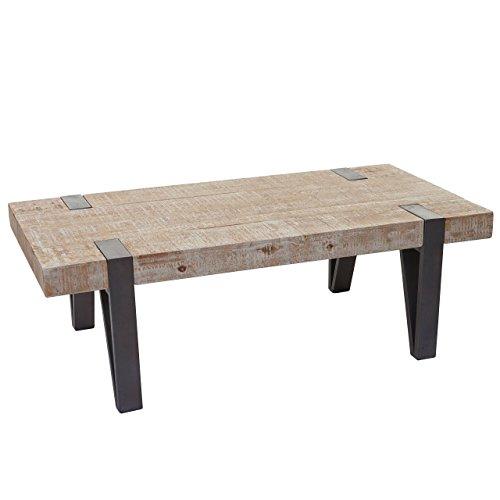 Mendler Couchtisch HWC-A15b, Wohnzimmertisch, Tanne Holz rustikal massiv 40x120x60cm