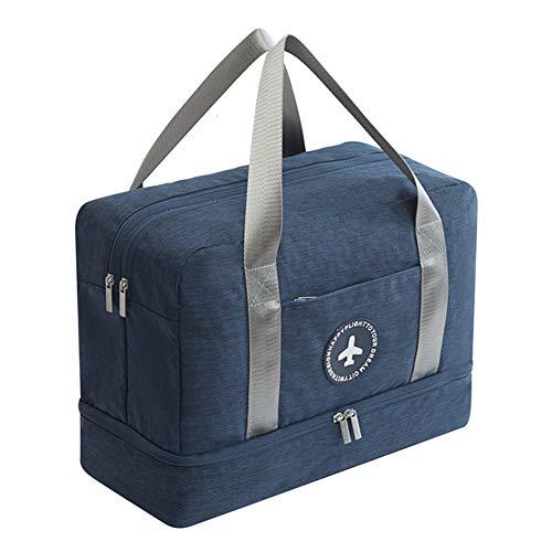 Tancurry Mehrzweck Elegante Damen Herren Lightweight Sportstasche Chic Strandtasche Schuhetasche Reisetasche (Dunkeblau)
