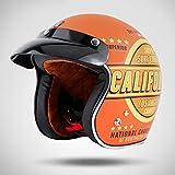 Jet Vintage Casco Moto Motocicleta Retro Motocross 3/4 Casco Dot Certificado para Adultos Mujer y Hombre Retro Scooter Motocicleta Helmet Chopper Cruiser 57-64cm