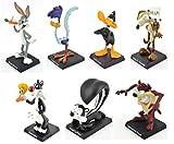 OPO 10 - Lote de 7 Figuras de Metal - 8cms - Silvestre y Piolín + Bugs Bunny + Pato Lucas + Correcaminos + Coyote + Pépé Le Pew + Taz / Titi et Grosminet Looney Tunes (1à7)