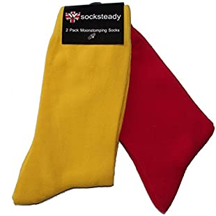 Skinhead Style Red & Yellow Socks (Pack of 2)