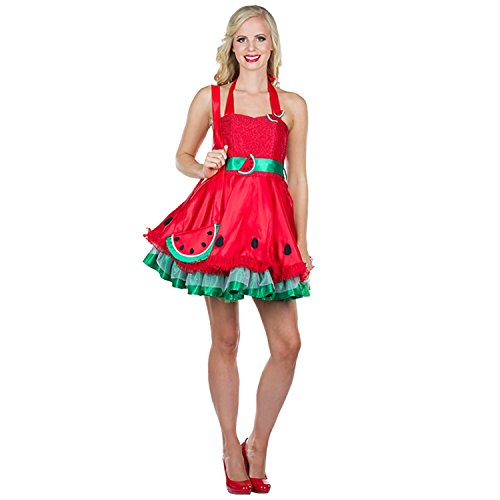 Unbekannt Costume da Donna Abito in Melone Dolce Red Fruit Disguise Carnival 34, 36, 38, 40, 42 (42)