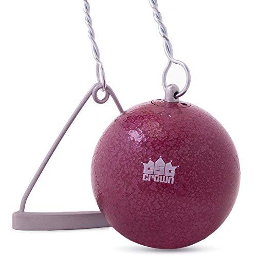 Crown Sporting Goods Marteau en fonte et fil de fer 6 kg pour compétition, pratique et entrainement pour les compétitions professionnelles, université, collège, haute école Qualité et fil et poignée inclus