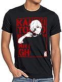 style3 Tokyo Fate Camiseta para Hombre T-Shirt Ghoul Kaneki Anime Manga, Talla:S