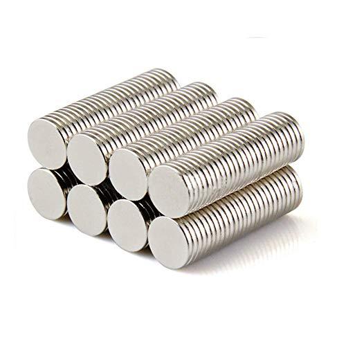 Yizhet 100 piezas Imanes de nevera de cilindro de neodimio Imanes de disco de tierra rara para artesanías, manualidades, hobbies y organización de oficinas (8 * 1 mm)