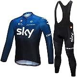 SKY TEAM Road Racing Camiseta de ciclismo de manga larga para hombre Invierno,otoño Bicicleta montaña Ropa bicicleta...