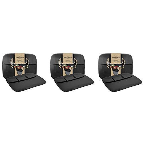 GUSTA 02266200 Grillin & Chillin BBQ-Teller 26 x 20 cm, Steingut, schwarz (6 Stück)