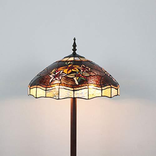HDO 18 inch retro vintage antiek roestvrij staal glas slaapkamer creatieve slaapkamerlamp staande lamp klassieke vloerlamp sfeervolle luxe
