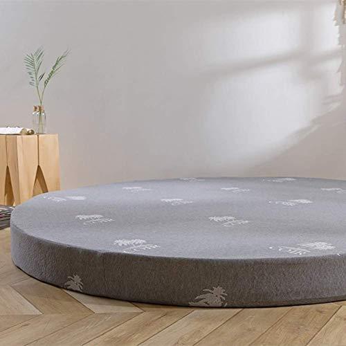 qwqqaq Verdicken Runde Bett Matratze,Memory-Schaum Bodenmatte Tatami Matratze Schlafen Pad Faltbar Atmungsaktive Matratzenauflagen Pad A 180x180x5cm(71x71x2inch)