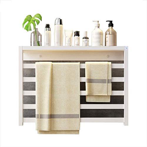 Rieles de toallero con calefacción Riel de toalla con calefacción eléctrica, radiador más cálido, portátil independiente o montado en la pared, 580X400X100mm, 60W (Color: Línea izquierda blanca, Tamañ