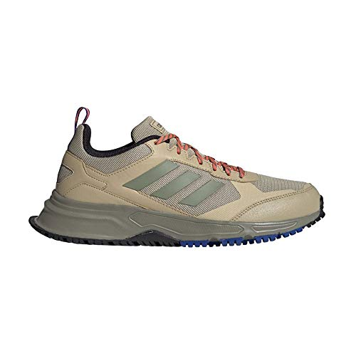 adidas Rockadia Trail 3.0, Scarpe Running Uomo, Savannah/Legacy Green/Signal Coral, 42 EU