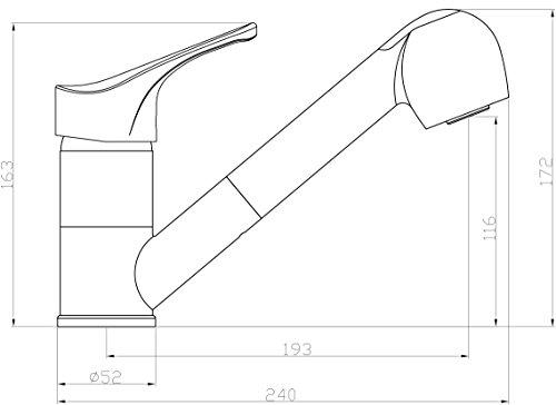 EISL NI183WGCR Grifo para fregadero