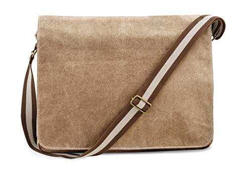 Quadra Vintage Canvas Despatch Bag, Schultasche, Umhängetasche