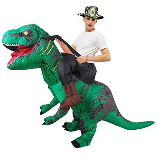 Nlight Disfraz Inflable De Halloween Disfraz De Jinete De Dinosaurio Inflable Montar Velociraptor Traje De Cosplay,Traje Inflable De Dinosaurio Fiesta De Disfraces De Dibujos Animados