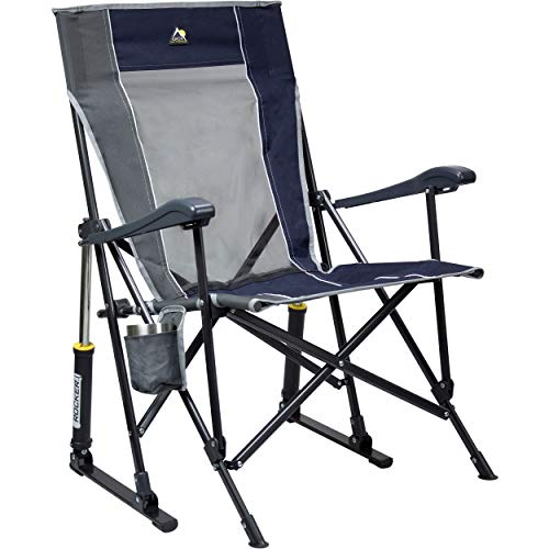 GCI Outdoor RoadTrip Rocker Outdoor Rocking Chair, Midnight