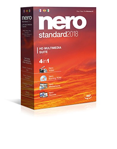 Nero Standard 2018 - Software De Edición Multimedia, 4in1,
