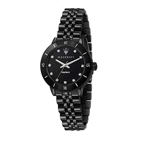 Maserati Reloj Mujer, Colección SUCCESSO Solar, Cuarzo, Solo Tiempo, en Acero, PVD Negro - R8853145501