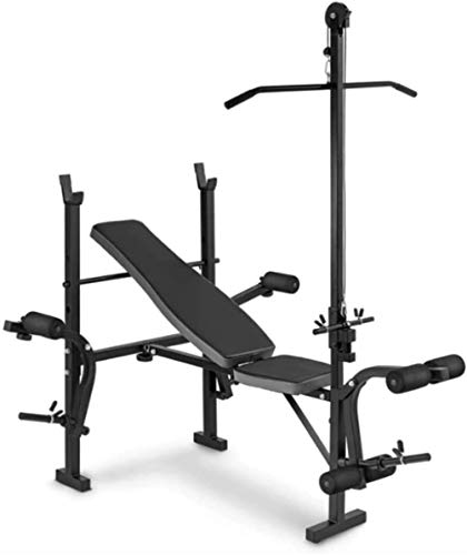 YUMUO Adjustable Weight Bench Workout Bench Olympic Weight Bench with Decline Incline Preacher Curl & Leg Developer for Weight Lifting and Strength Training,6 Levels Adjustable Professional Weight Ben