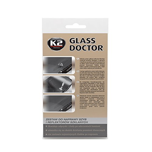 K2 Glass Doctor, Windschutzscheibe Reparatur Set, Steinschlagreparatur, Scheibenreparatur, auch für Lampengläser geeigent, auf Harz Basis