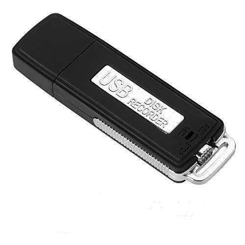Digital Voice Recorder Portable Rechargeable Mini USB Audio Voice Recorder & USB Flash Drive 8GB