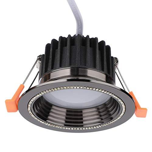 Germerse Lámpara de Techo LED RGB, Lámpara de Techo, Control de WiFi AC 85-265V Comedor Dormitorio para el hogar(Black)