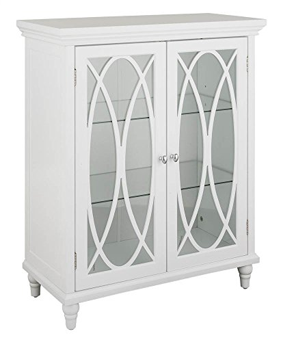 Best Review Of Double Door Floor Cabinet in White