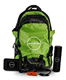 HyperWhistle All-in-One, Hiking/Survival Trail Pack, Survival Kit, Thermal Water Bottle, Trail Pack (Green)