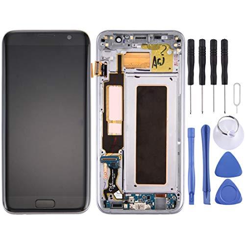Moonbaby nieuw voor Galaxy S7 Edge / G935A LCD-scherm en Digitizer volledige montage met frame en opladen poort Board & volume knop & aan/uit-knop (zwart)