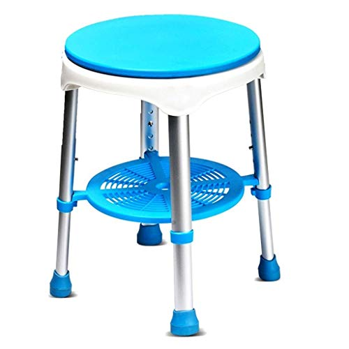 CLJ-LJ - Sgabelli da bagno, sgabelli da doccia, con sedile girevole, per vasca da bagno, sedia regolabile per ascensore e doccia, per 158,8 kg, sedia antiscivolo