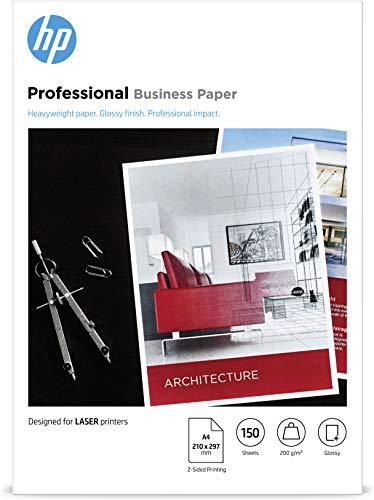 HP Carta Professionale Lucida HP, 7MV83A, Grammatura 200g/m2, Formato A4, Confezione da 150 Fogli