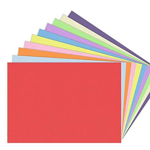 10 Farben, A5 120 g/m² Farbige Buntes Papier Ton-Papier, 100 Blatt