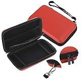 Emoshayoga Bolsa de Almacenamiento 2 Piezas para Consola de Juegos 3ds XL(Red)