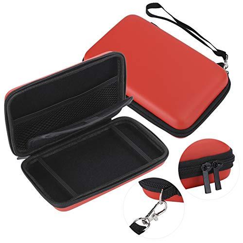 Sac de rangement avec cadre de colle élastique pour console de jeu 3D XL Rouge
