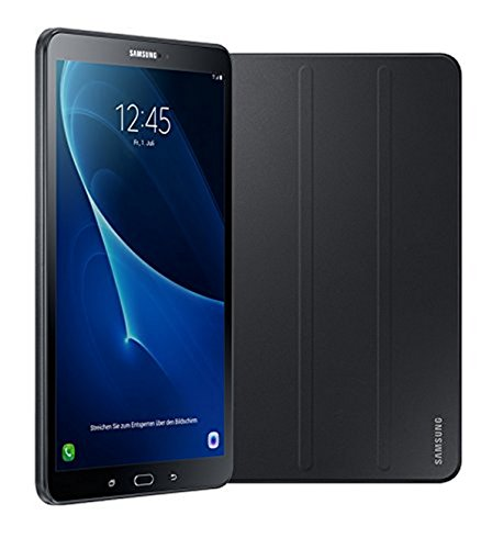 Samsung Galaxy Tab A T580N 25,54 cm (10,1 Zoll) Wi-Fi Tablet-PC (Octa-Core, 2GB RAM, 16GB eMMC, Android 6.0) schwarz inkl. Samsung Book Cover - Limited Edition