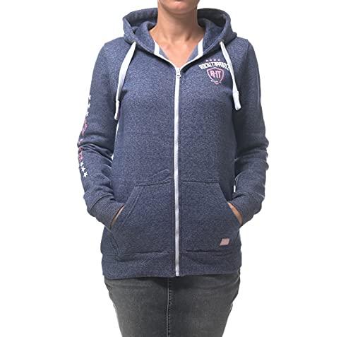 ROCK-IT Apparel® Kinder Kapuzenjacke Mel Hoodie Kapuzen Sweaterjacke Pullover Zipper Hoody Größen 98 - 164 Farbe Blau 134/140