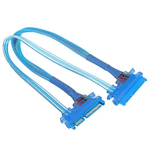 ciciglow Cable de extensión de alimentación SATA de 7 + 15 Pines a 22 Pines, Cable Extensor Macho a Hembra Adaptador de Cable Cable Sata para transmisión de Datos de Disco Duro Externo (30 cm)(30cm)