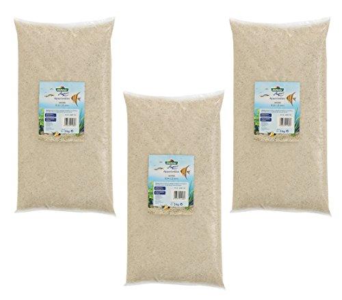 Dehner Aqua Aquariensand, Körnung 0.4 - 1 mm, 3 x 5 kg (15 kg), weiß
