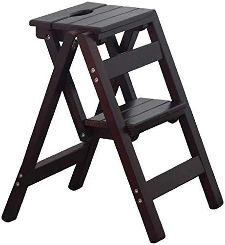 LJBXDCZ NJ barkruk-houten vouwladder kruk | 2 stappen stapels ladder | multifunctionele opklapbare kruk | trapstand kruk voor keuken/kantoor/Library |