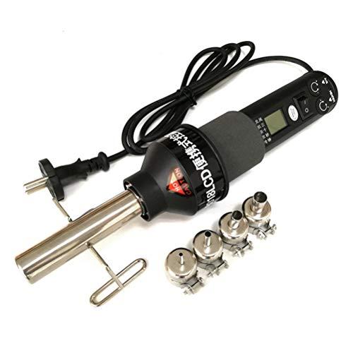 LEEEC Pistola de Calor, Soldador eléctrico 220V 450W 450 Grados LCD Ajustable de Calor electrónico Pistola de Aire Caliente Estación de Soldadura para desoldar